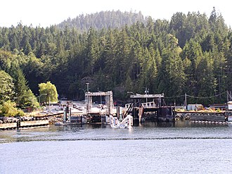 Earls Cove, British Columbia - The BC Ferries docks
