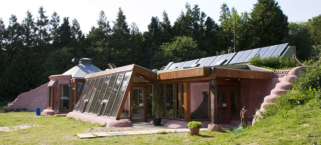 1024px Earthship Brighton Front - Anatomy of a Self-Sufficient Home: Living Off the Grid