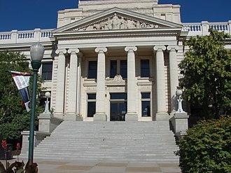 Utah County, Utah - Image: East (closer) at Historic Utah County Courthouse, Jul 15