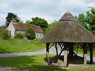 East Marden - Image: East Marden Well and Church geograph.org.uk 13759