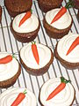 Easter cupcakes - carrots on white frosting.jpg