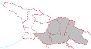 Eastern Georgia (country) - Map outlining the territory of Eastern Georgia