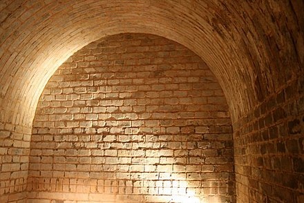 An Eastern-Han vaulted tomb chamber at Luoyang made of small bricks Eastern Han tomb, Luoyang 2.jpg
