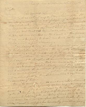 Ebenezer Elmer - Letter from Ebenezer Elmer, 1782