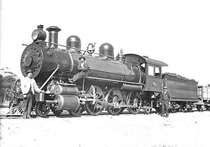 WAGR Ec class - Ec249 at Kellerberrin on the Eastern Goldfields Railway in 1903