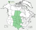 Echinacea angustifolia range map.png