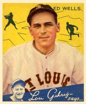 Ed Wells (baseball) - Image: Ed Wells Goudeycard