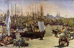 Edouard Manet: Harbour at Bordeaux, 1871