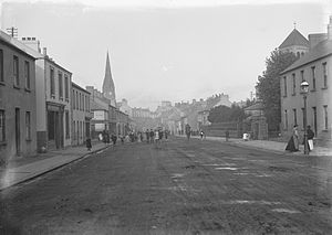 Lurgan - Edward Street, Lurgan, in the early 20th century