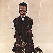 Portrait of Eduard Kosmack oleh Egon Schiele