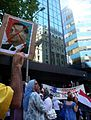 Egypt Uprising solidarity Melbourne protest, 30 January 2011 003.jpg