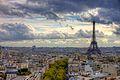 Eiffel Tower from Arc de Triomphe October 19, 2010.jpg