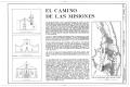 El Camino de las Misiones, Ysleta, Socorro, San Elizario Vicinity, San Elizario, El Paso County, TX HABS TEX,71-YSL,2- (sheet 1 of 1).png