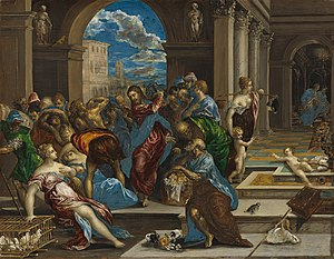 Christ Driving the Money Changers from the Temple (El Greco, Washington) - Image: El Greco 13