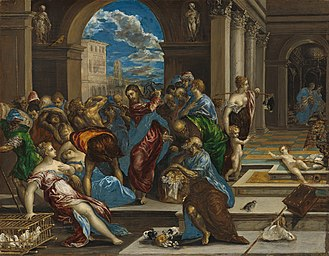 Cleansing of the Temple - Christ Driving the Money Changers from the Temple (El Greco, Washington)