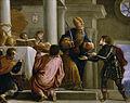 El sacerdote Ajimelec entrega el pan y la espada a David, por Juan Antonio de Frías.jpg