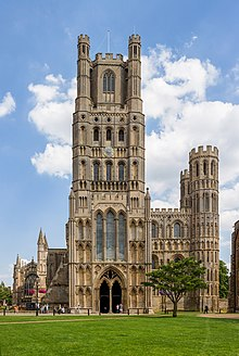 West front (main entrance) of Ely Cathedral