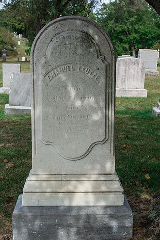 Emanuel Leutze - Grave of Emanuel Leutze at Glenwood Cemetery.