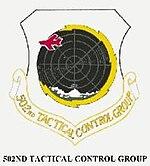 Emblem of the 502d Tactical Control Group
