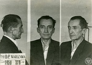 Emil August Fieldorf - Emil Fieldorf after arrest 1950