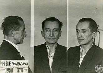 Emil August Fieldorf - Emil Fieldorf after arrest 1950