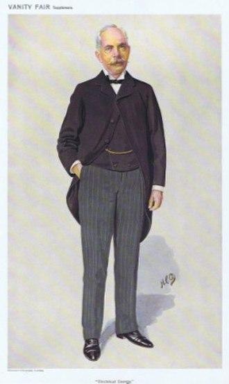 Emile Garcke - Garcke caricatured by HCO for Vanity Fair, 1910