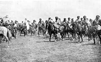 Emir of Kano with cavalry, 1911 Emir of Kano-1911.jpg