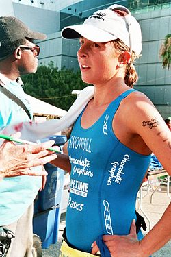 Emma Snowsill beim Los Angeles Triathlon, 2007