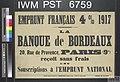Emprunt Francais Quatre pour cent 1917 (Four Percent French Loan 1917) Art.IWMPST6759.jpg