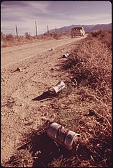 Empty Steel Beer and Soft Drink Cans That Litter the Countryside Could Become a Sight of the Past If the Experimental Houses Built from Them near Taos, New Mexico, Become Popular. (3815850978).jpg