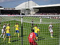 England women v Sweden 3 8 2014 16.JPG