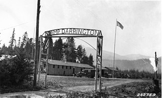 Darrington, Washington - The entrance to Camp Darrington, established in 1933 by the Civilian Conservation Corps