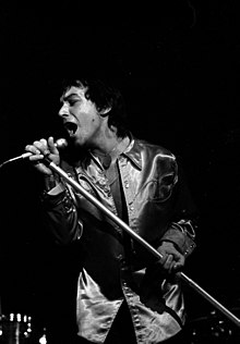 Burdon at the Audimax with the Eric Burdon Band in Hamburg, July 1973