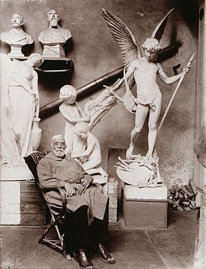 Walter Runeberg - Sculptor Walter Runeberg in his studio, 1910's