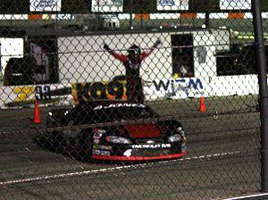 Erik Jones - Jones celebrating 2010 win