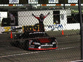 Erik Jones - Jones celebrating 2010 win