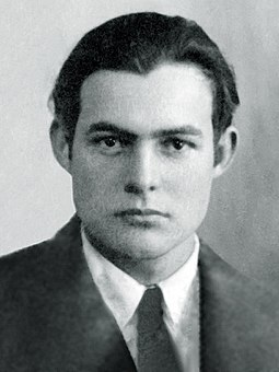 In France, Fitzgerald became close friends with writer Ernest Hemingway. Ernest Hemingway 1923 passport photo.jpg