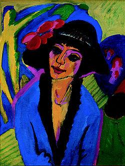KIRCHNER Ernst Ludwig Portrait of Gerda 1914
