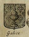 Escudo da Galiza em L'art du blason justifié de C.-F. Menestrier (1661).jpg
