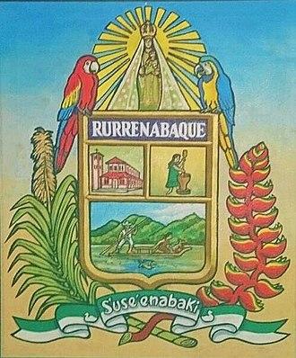 Rurrenabaque - Image: Escudo de Rurrenabaque