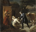 Fénélon returns a Stolen Cow to a Peasant (Louis Hersent) - Nationalmuseum - 23791.tif