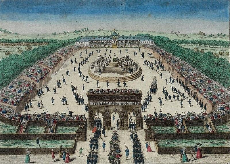 Fiesta de la Federación, el 14 de julio de 1790 en el Campo de Marte,