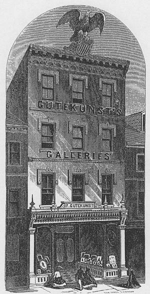 Frederick Gutekunst - exterior, linotype of studio