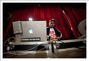 The Bangerz - DJ Squareweezy of The Bangerz DJing live in 2010