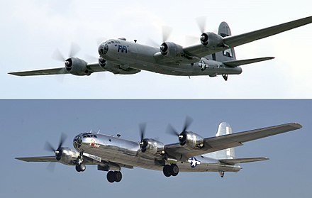 The two remaining flyable B-29s: FIFI (top) and Doc (bottom) FIFI and Doc.jpg