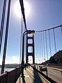 Facing south on eastern sidewalk, Golden Gate Bridge.jpg