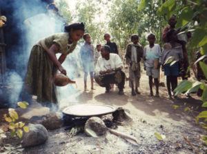 Falash Mura - Falash Mura woman making Injera in Gondar in 1996.
