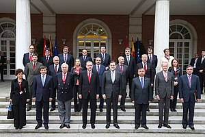 Spain–Turkey relations - Official family photo of fourth High Consultative Meeting of Spain-Turkey in Madrid, 27 November 2012