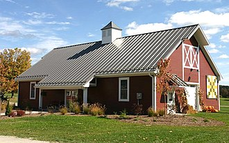 Pole building framing - Image: Farmers Market Building