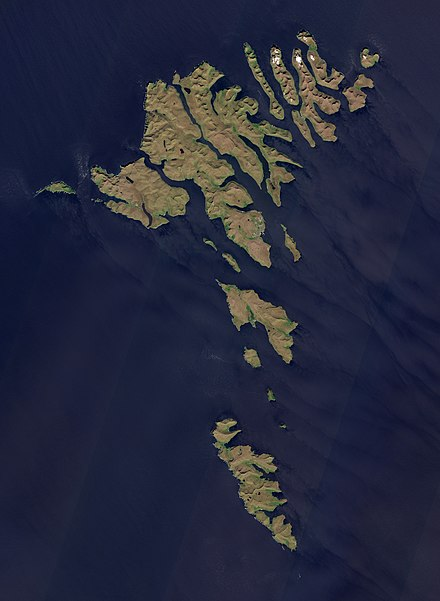 Satellite image of the Faroe Islands Faroe Islands by Sentinel-2.jpg